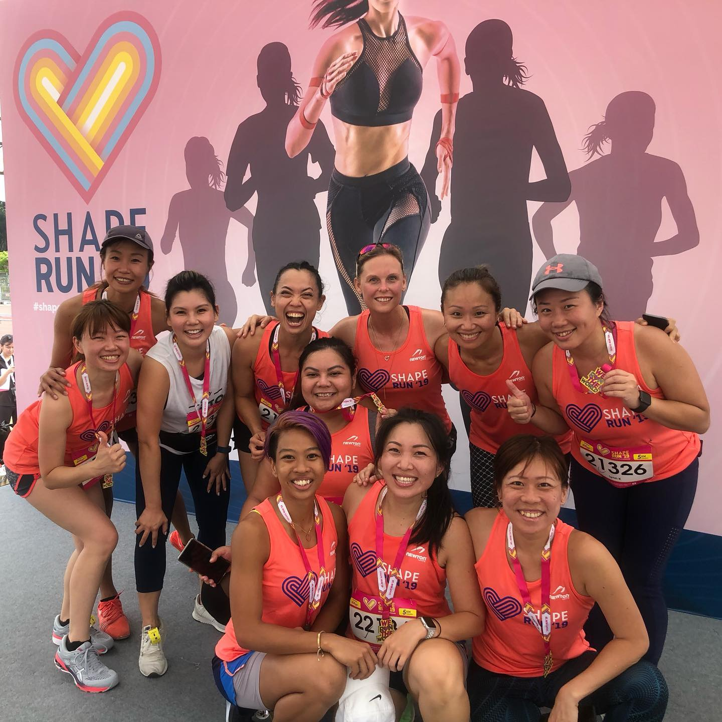 Sarah Cole in group photo after a run