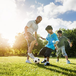 soccer-football-field-father-son-activity-summer